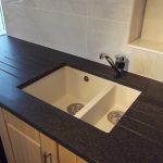 black beige kitchen